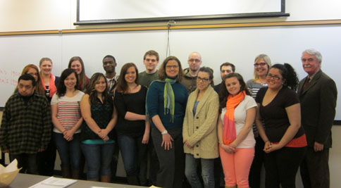 Professor Mary Trotter and students from The Irish Revival, February 26, 2013