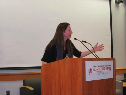 Poet Saskia Hamilton reading at Montclair State, February 23, 2012