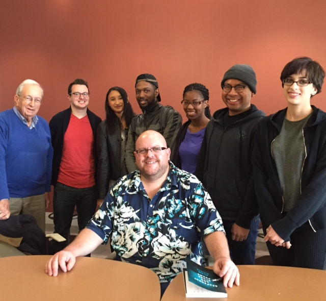 Poet Alan Gillis with students from The Art of Poetry, November 2016