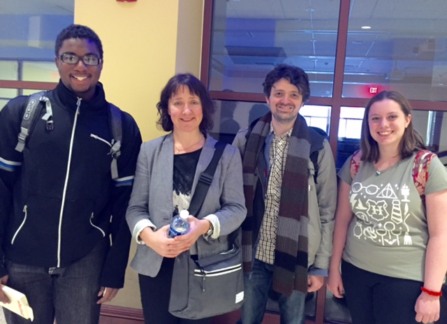 Poet Colette Bryce with students from The Art of Poetry, April 2017