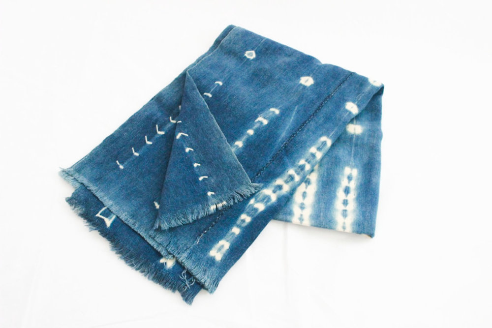 Shibori Throw - Scavenged Vintage