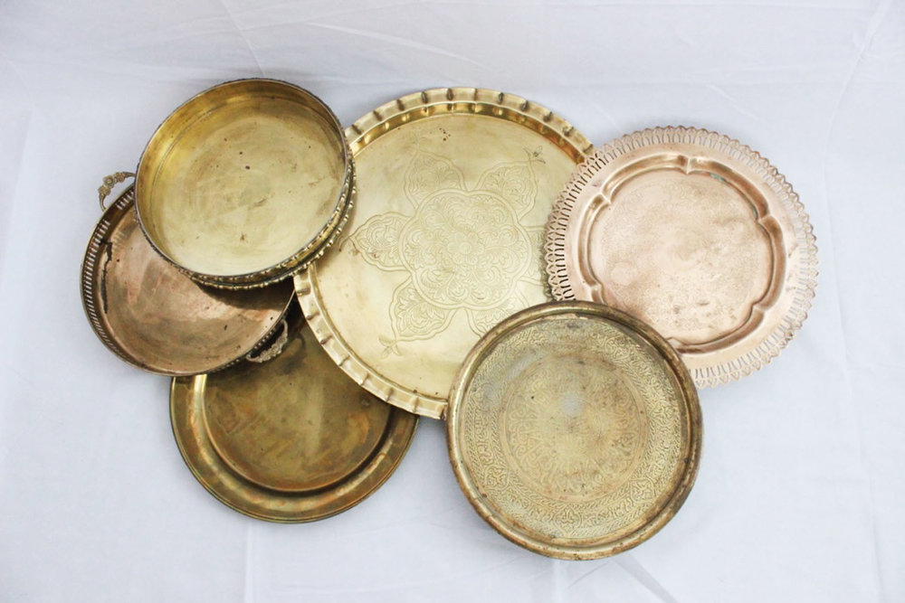 Brass Trays - Scavenged Vintage