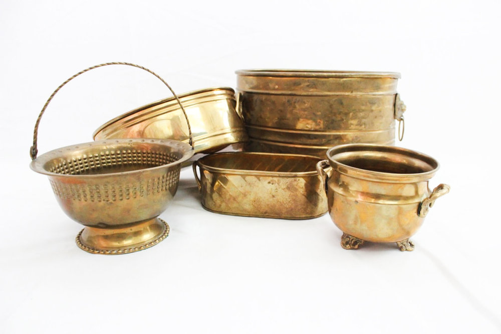 Brass Planters - Scavenged Vintage