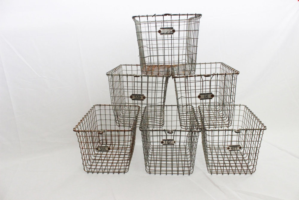 Locker Baskets - Scavenged Vintage