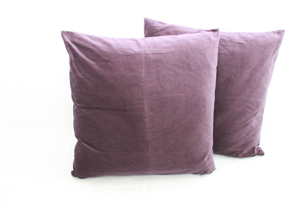 Purple Velvet Pillows - Scavenged Vintage