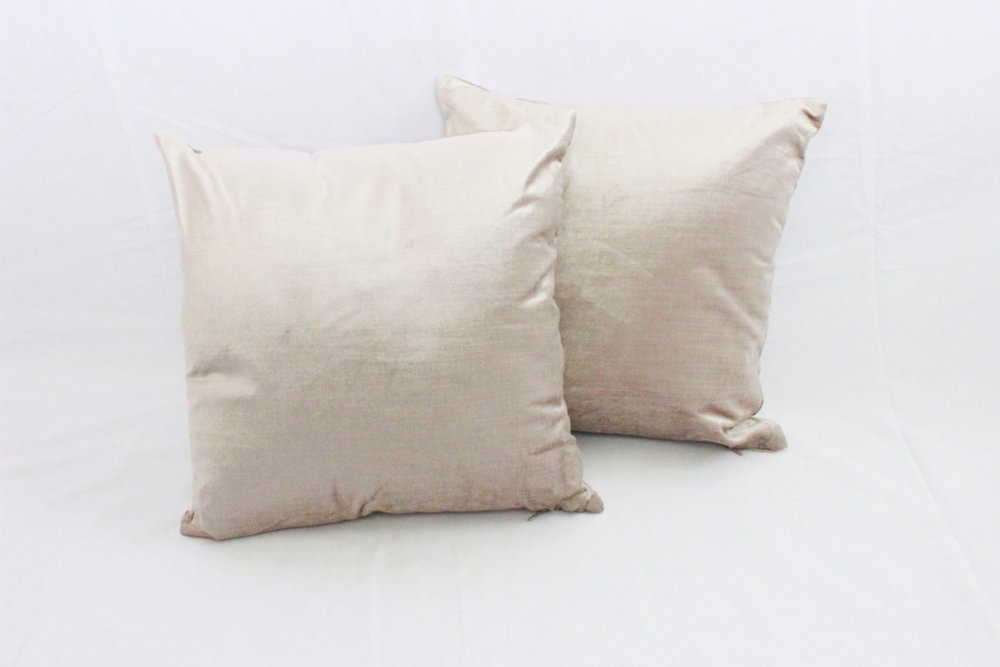 Champagne Velvet PIllows - Scavenged Vintage