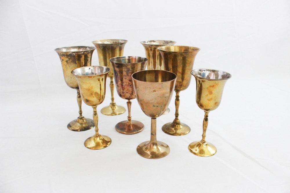 Brass Goblets - Scavenged Vintage