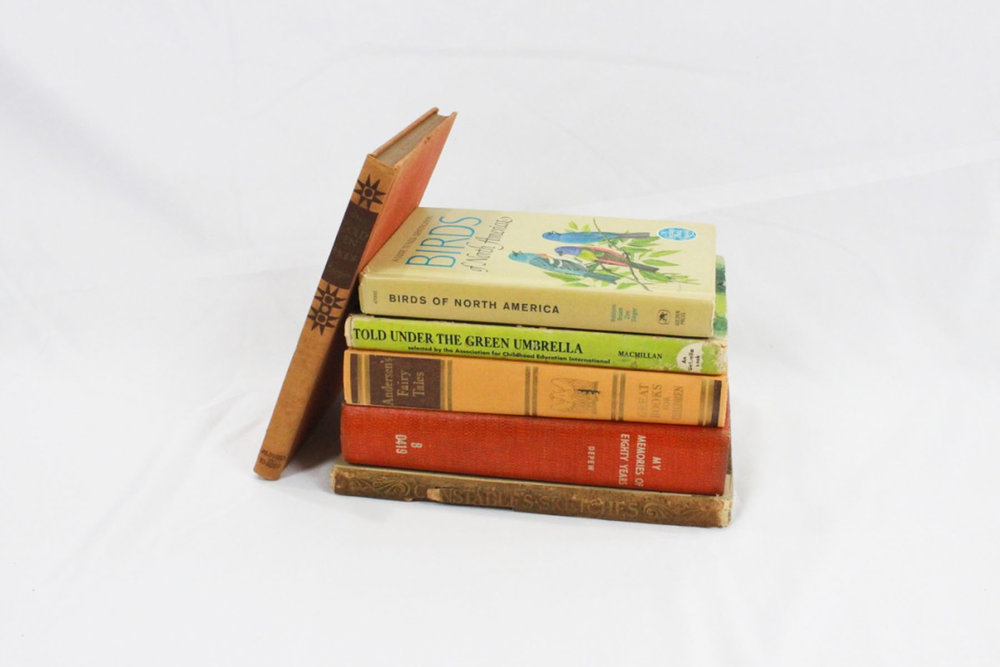 Assorted Books - Scavenged Vintage Rentals