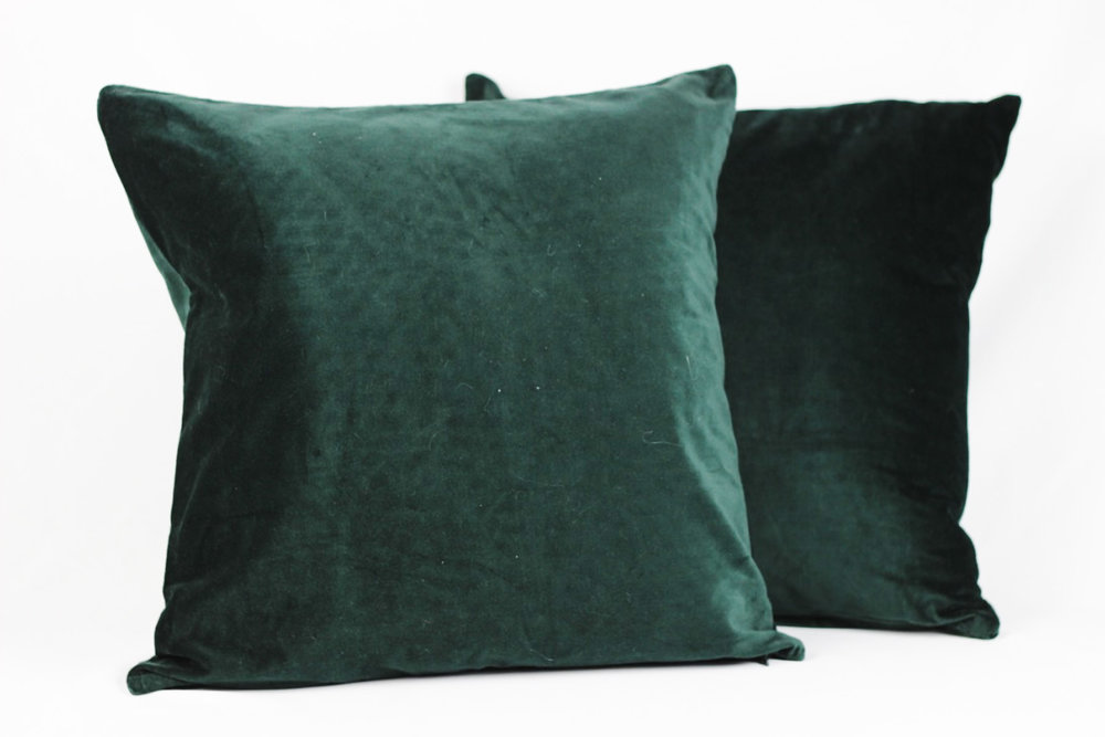 Emerald Velvet Pillows - Scavenged Vintage Rentals.jpg