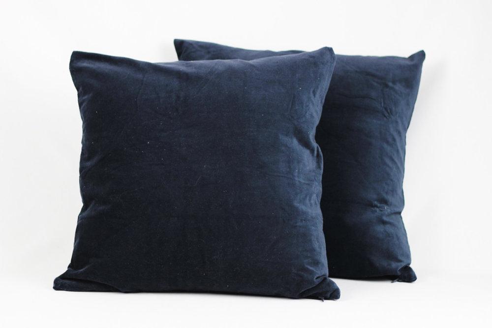 Navy Velvet Pillows - Scavenged Vintage Rentals.jpg
