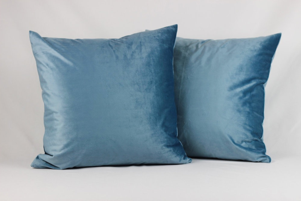 Royal Blue Velvet Pillows - Scavenged Vintage Rentals.jpg