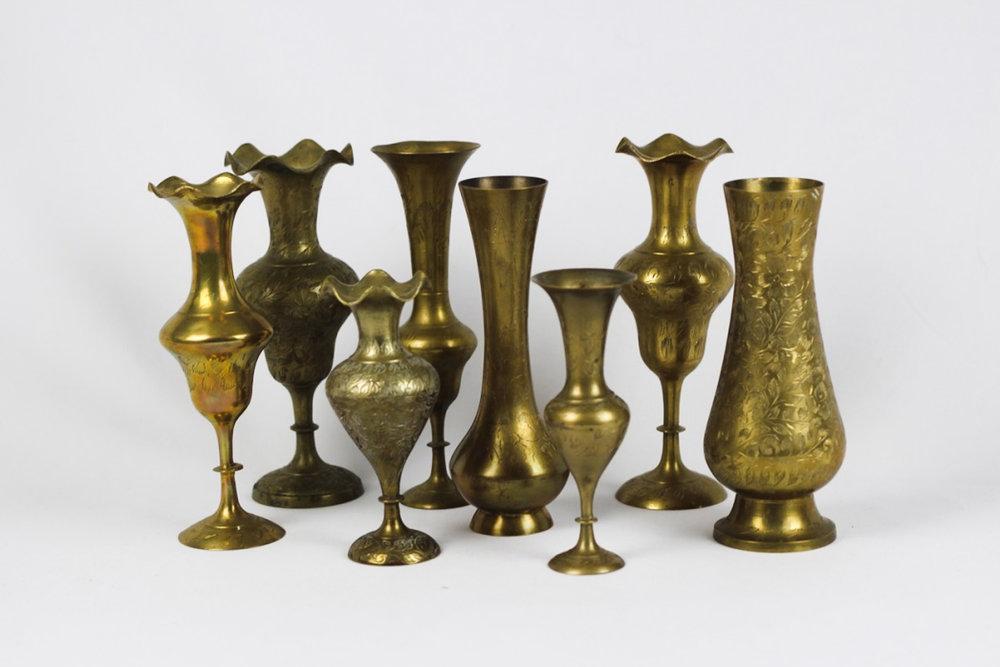 Brass Vases - Scavenged Vintage Rentals