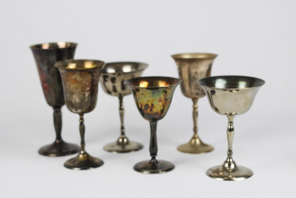 Silver Goblets - Vintage Rentals Austin
