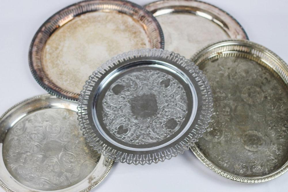 Silver Trays - Wedding Rentals Austin