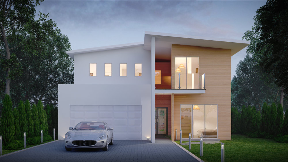 The 'A' house rendering
