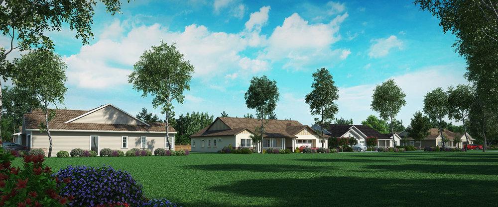 Residential Suburb Rendering