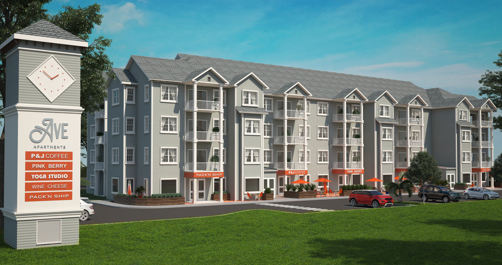 Big commercial project rendering - Residential and Commercial spaces