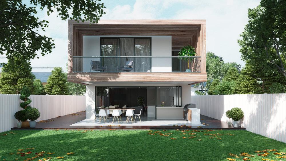 Backyard rendering