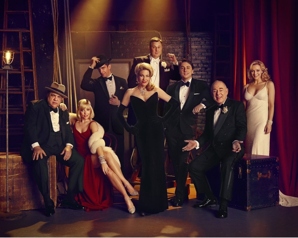 Betsy with the cast of  Bullets Over Broadway: The Musical  for Vanity Fair