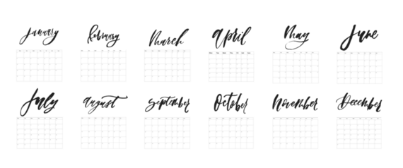 image relating to Calligraphy Printable titled Absolutely free Printable: 2018 Calligraphy or Brush Lettering Calendar