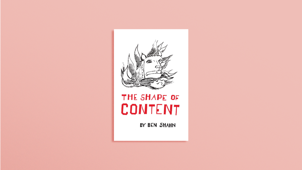 Copy of <b>The Shape of Content</b> by Ben Shahn