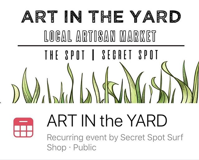 Come check us out with lots of new pieces of Wander Wear 🚗✈️🚆⛵️at  Art in the Yard at Secret Spot on Sunday, June 17 from 1-5pm.