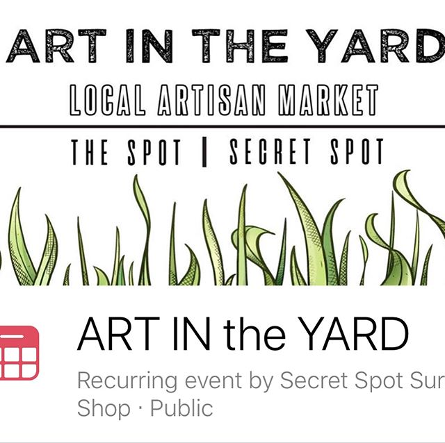 "Come check us out today , July 19 from 12-5 at ""ArT in the YaRd"" between the Spot & Secret Spot 🌎🗺🌎🗺🌏#secretspotsurfshop #obxbalance #travelacupuncturist"