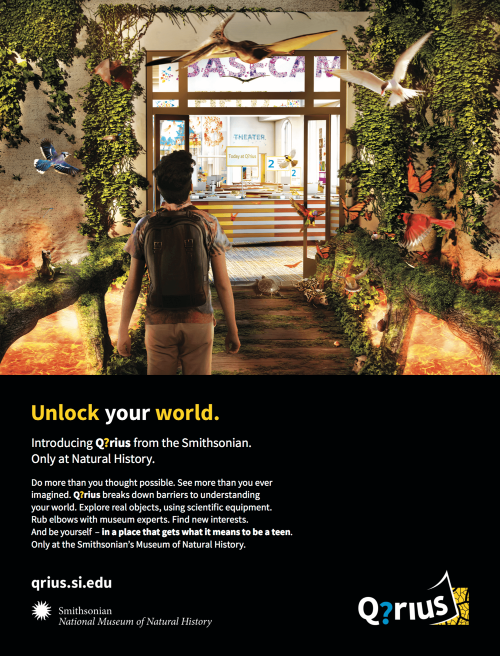 Print ad: Amtrak and Smithsonian Magazines