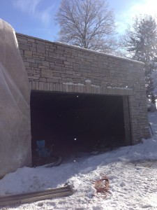 Stone surrounding Jay's garage!