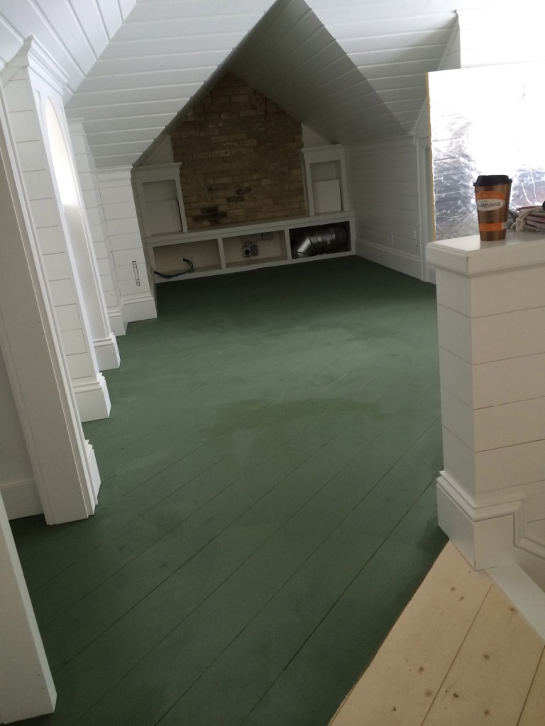Boy's green floor-put in at an angle!
