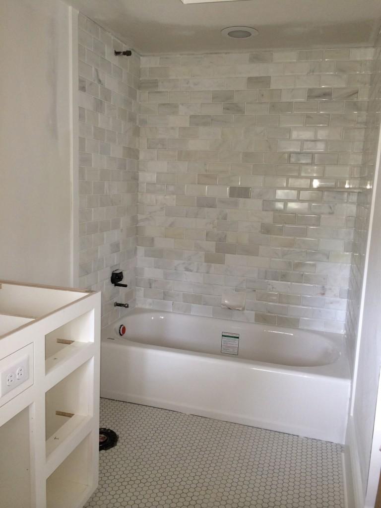 Tile work in girl's baths.
