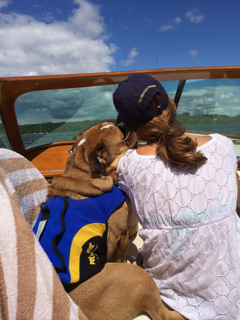 Me and Buster on a boat ride!