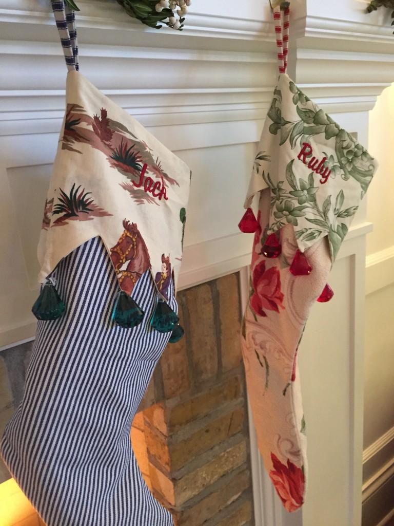 Vintage stocking detail.
