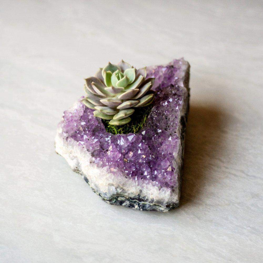 Amethyst is a powerful and protective crystal associated with finding highest truth and clarity.  CROWN CHAKRAS