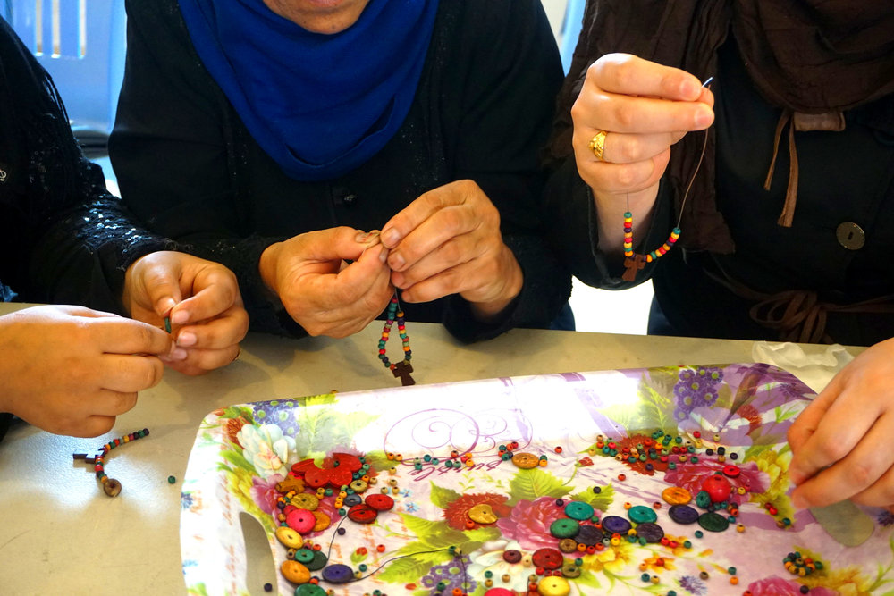 #2 Handmade in Lebanon - We were able to create a new partnership in 2018! We teamed up with a couple in Lebanon to employ Iraqi and Syrian refugees rebuilding their lives in Beirut. We started with a REBUILD bracelet with hopes of building their business in the future.