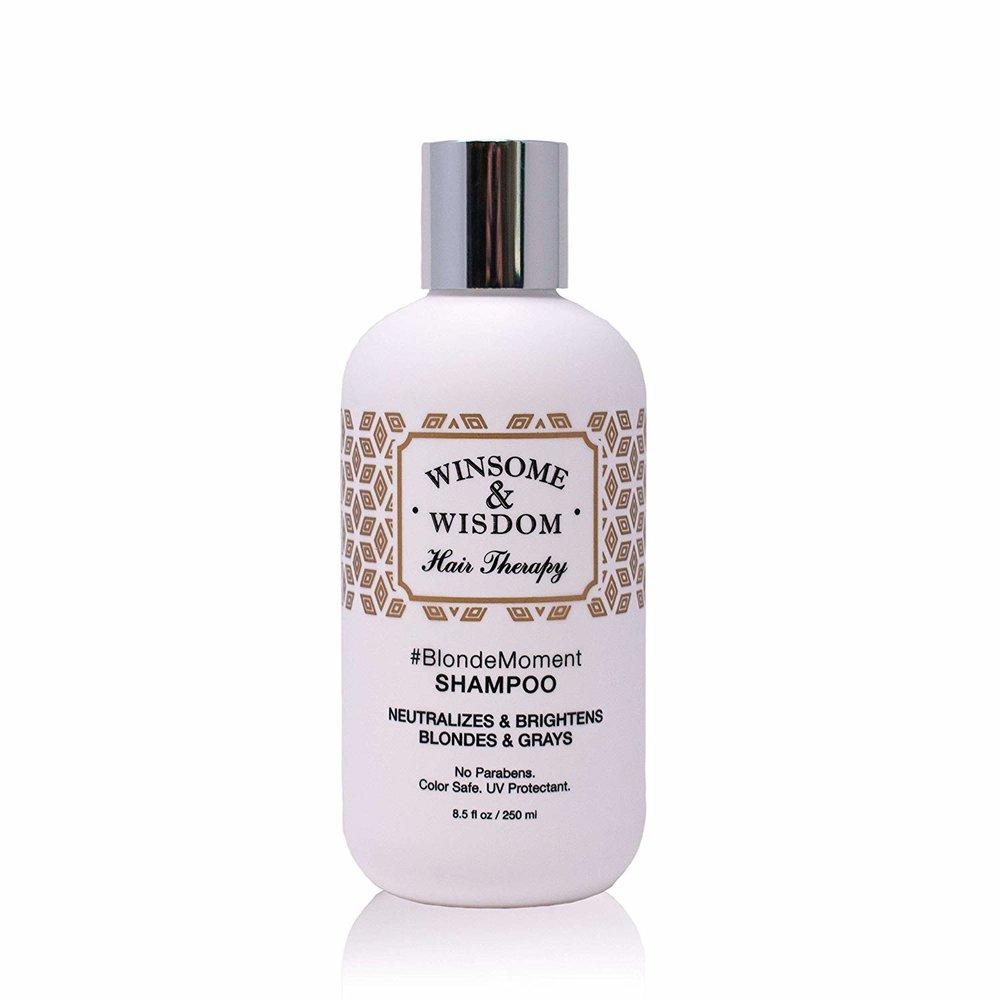Keep your hair blonde. - Winsome & Wisdom shampoo.