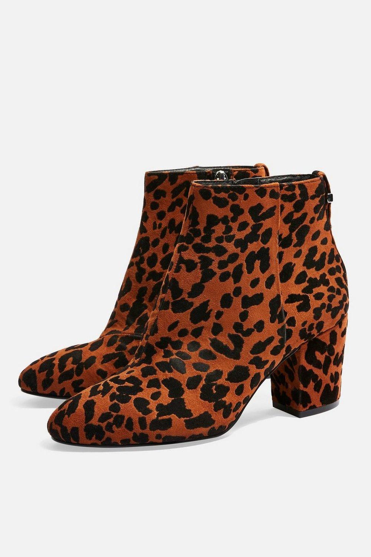 BRITTNEY Leopard Unit Boots | TopShop