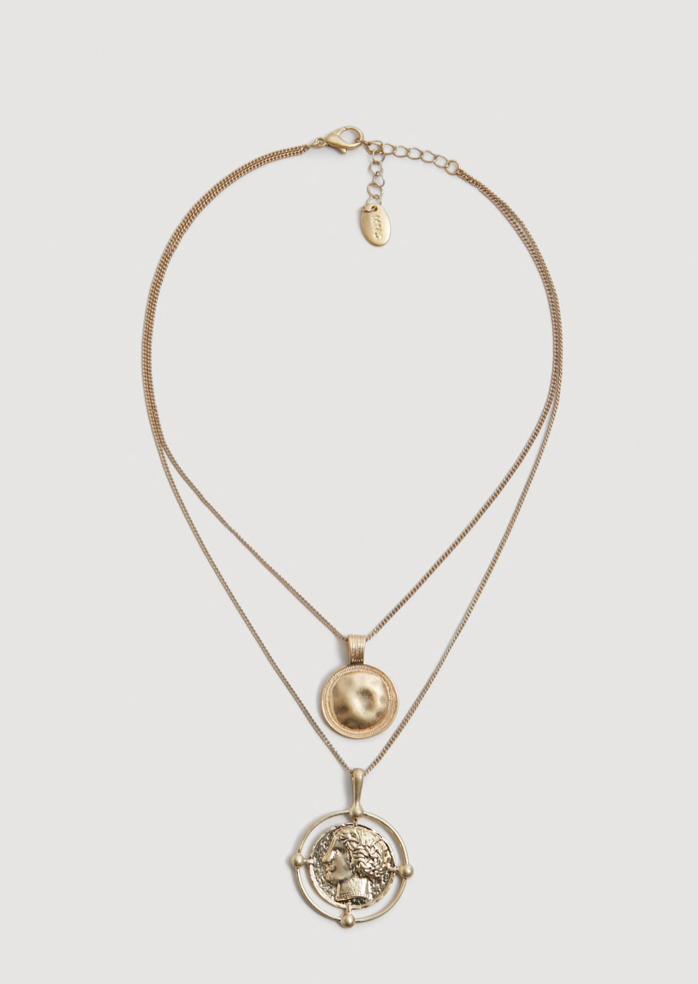 Coin Pendant Necklace | Mango