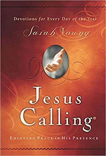 My favorite devotional,  Jesus Calling . I use an app for mine!