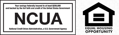 This is a logo for the National Credit Union Association and Equal Housing Opportunity