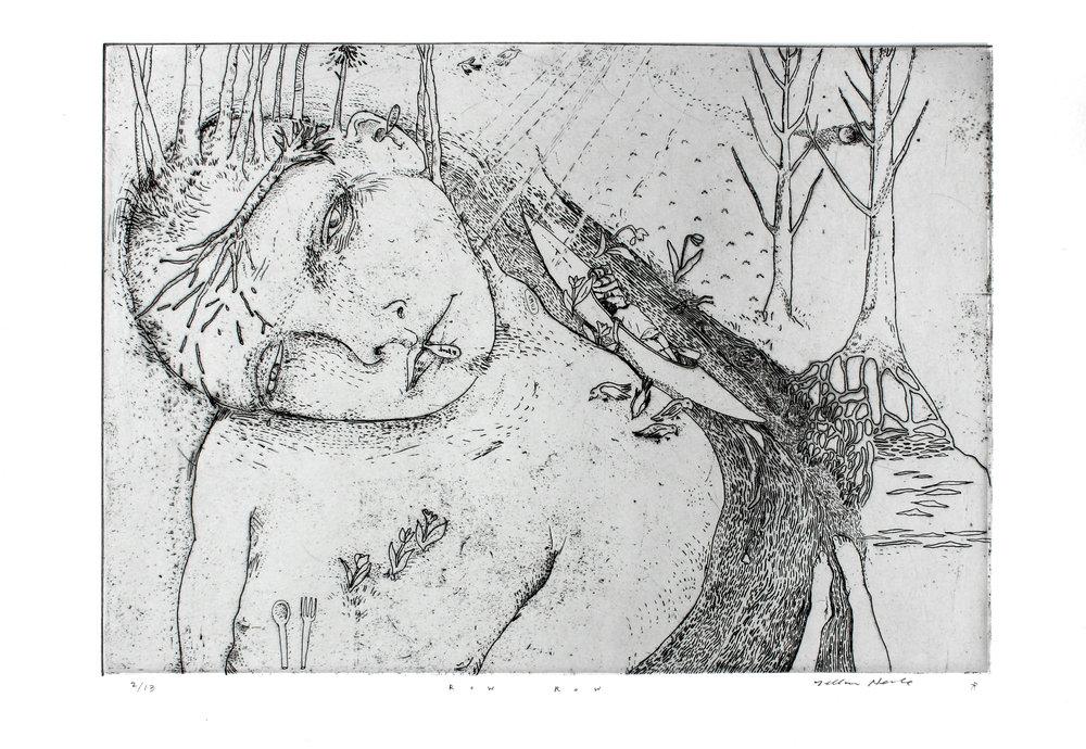 Copper intaglio etching collaboration with  Dellas Henke .