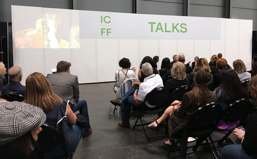 - Educational and fun, ICFF Talks feature industry leaders discussing their processes, innovations and future of design in intimate and informal atmosphere.