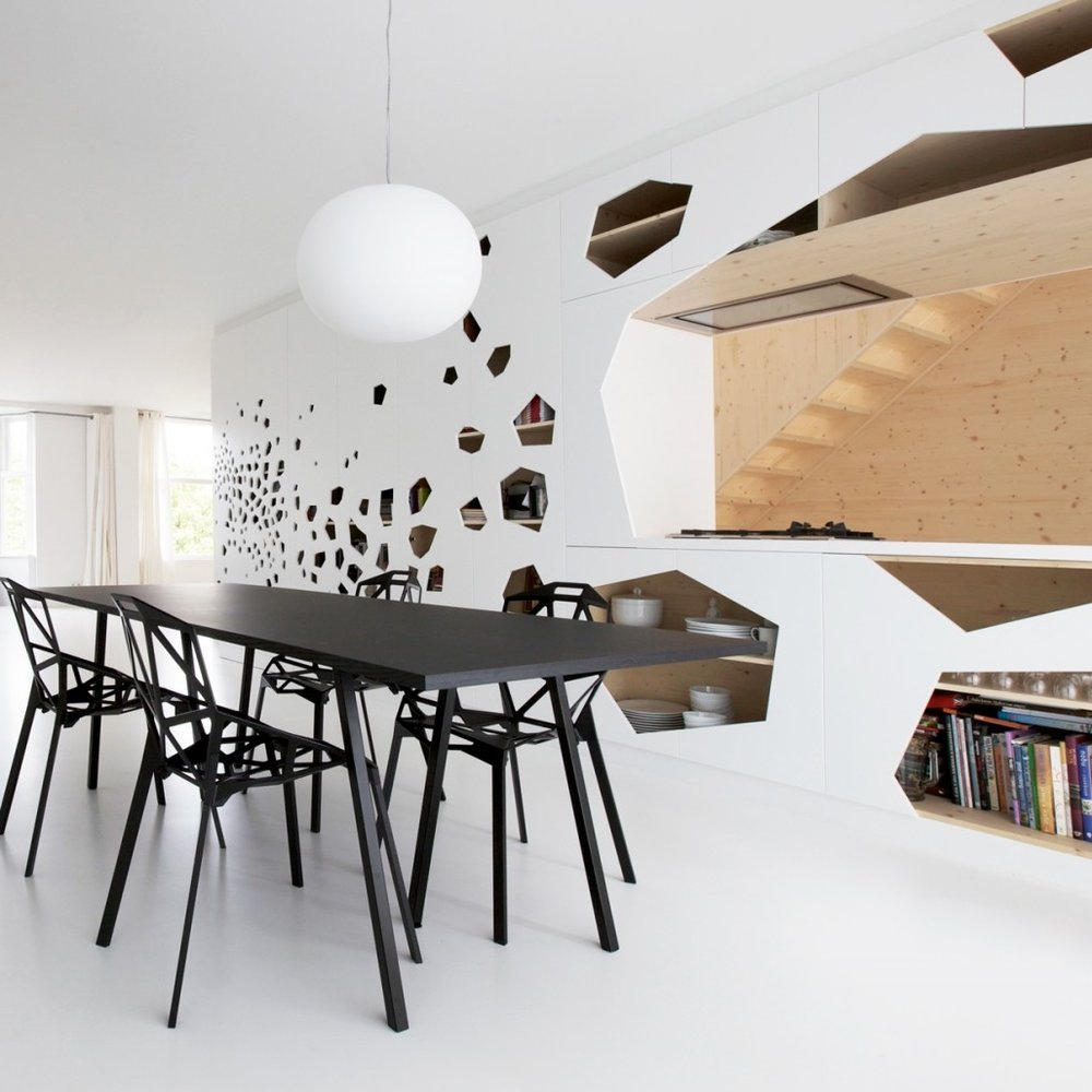 minimalist-white-open-space-dining-room-design-ideas-with-futuristic-black-wooden-dining-table-with-black-metal-angular-perforated-dining-chairs-and-white-ball-shape-pendant-light-minimalist-white-din.jpg