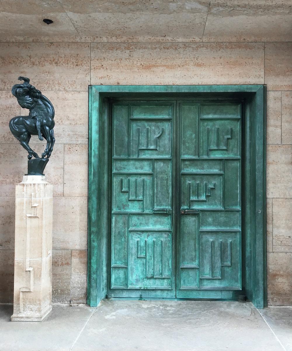 Door by Eliel Saarinen, Cranbrook Art Museum