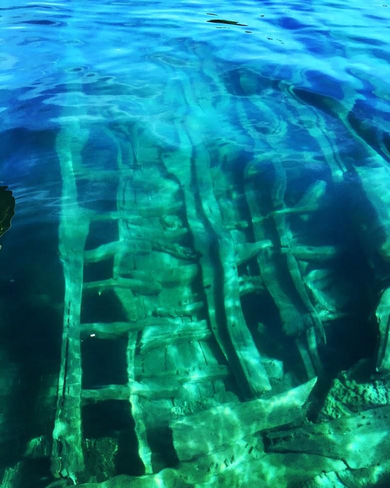 Sunken ship, Bruce Peninsula, Canada