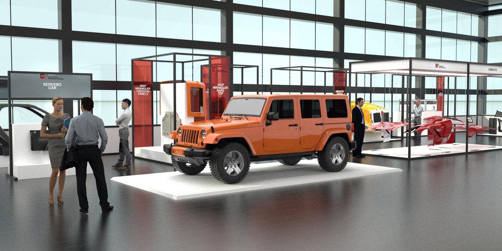 Sereebo Car and Jeep Parts Displays