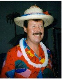 Hawaiian shirt + hat.
