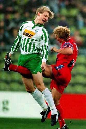 Kicked.