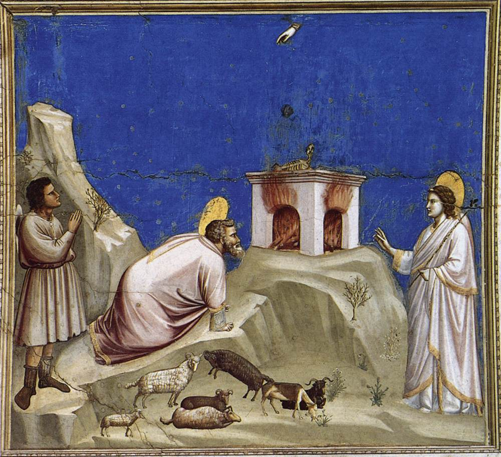 """Joachim's Sacrificial Offering"" - Giotto - 1306"