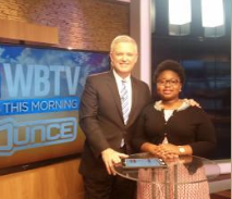 Mongai as guest of WBTV's John Carter,